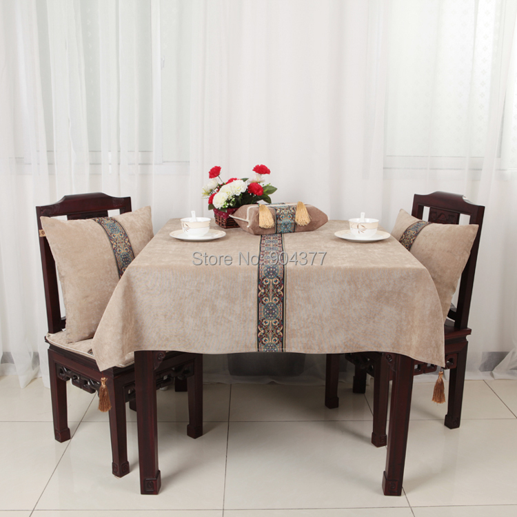 Perfect Multisizes Lace Patchwork Table Cloth High End Decorate Tassel Coffee Table  Tablecloth European Style Velvet Fabric