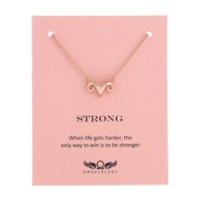 Фотография Sykesha 2018 Customize Ram Strong Brave Necklace Aries Constellation Pendant Necklace Strong Forture Favors Brave Friendship