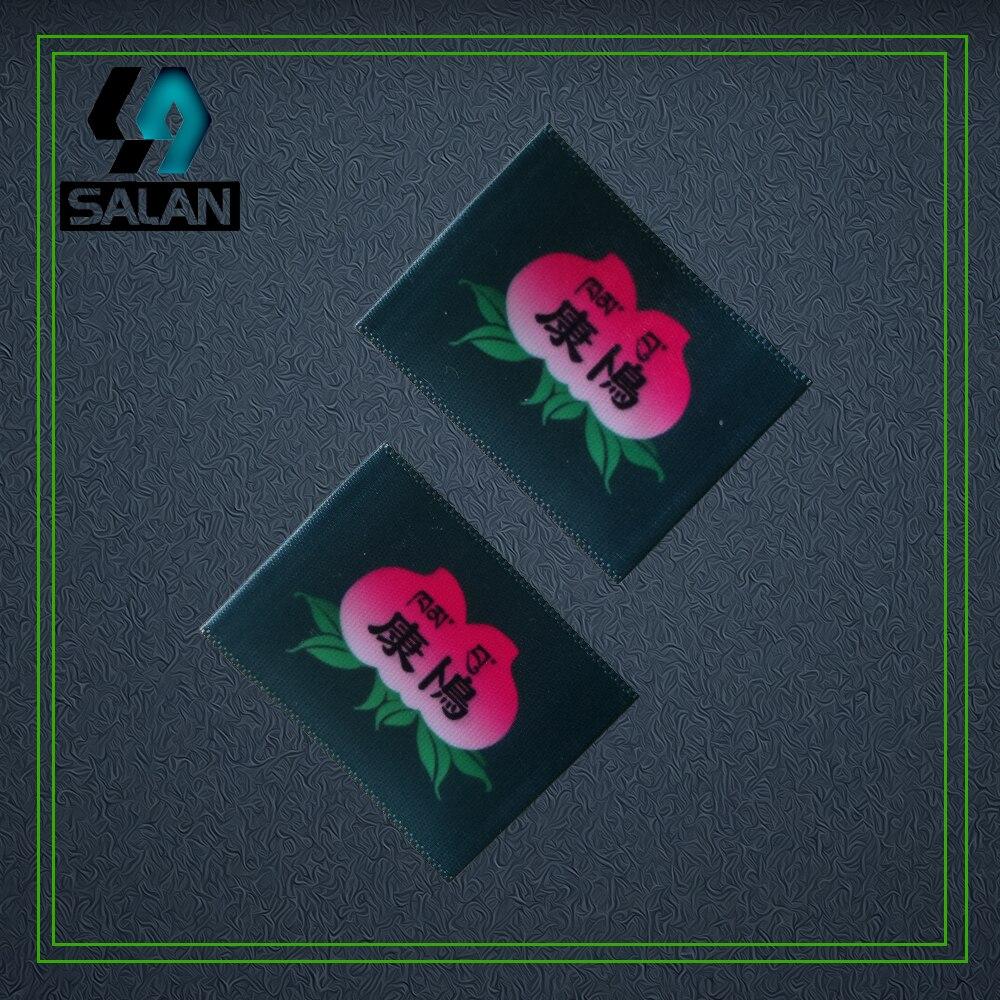 Étiquettes personnalisées d'impression Laser de tissu de ruban de pli d'extrémité étiquettes personnalisées d'étiquette de vêtement étiquettes de chaussure imprimées étiquette de soin étiquette ruban