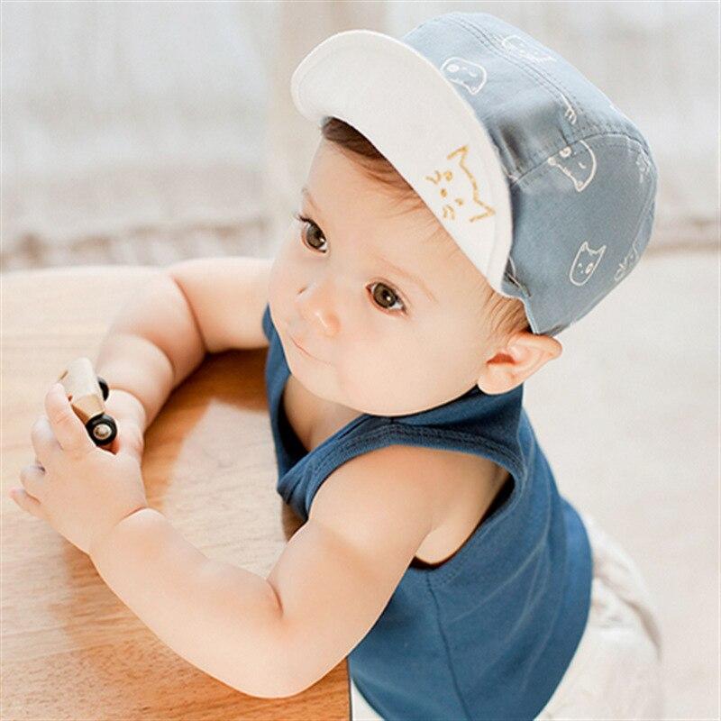 baseball hat beanie baby fashion cat hats unisex girls boys caps cartoon summer sun newborn