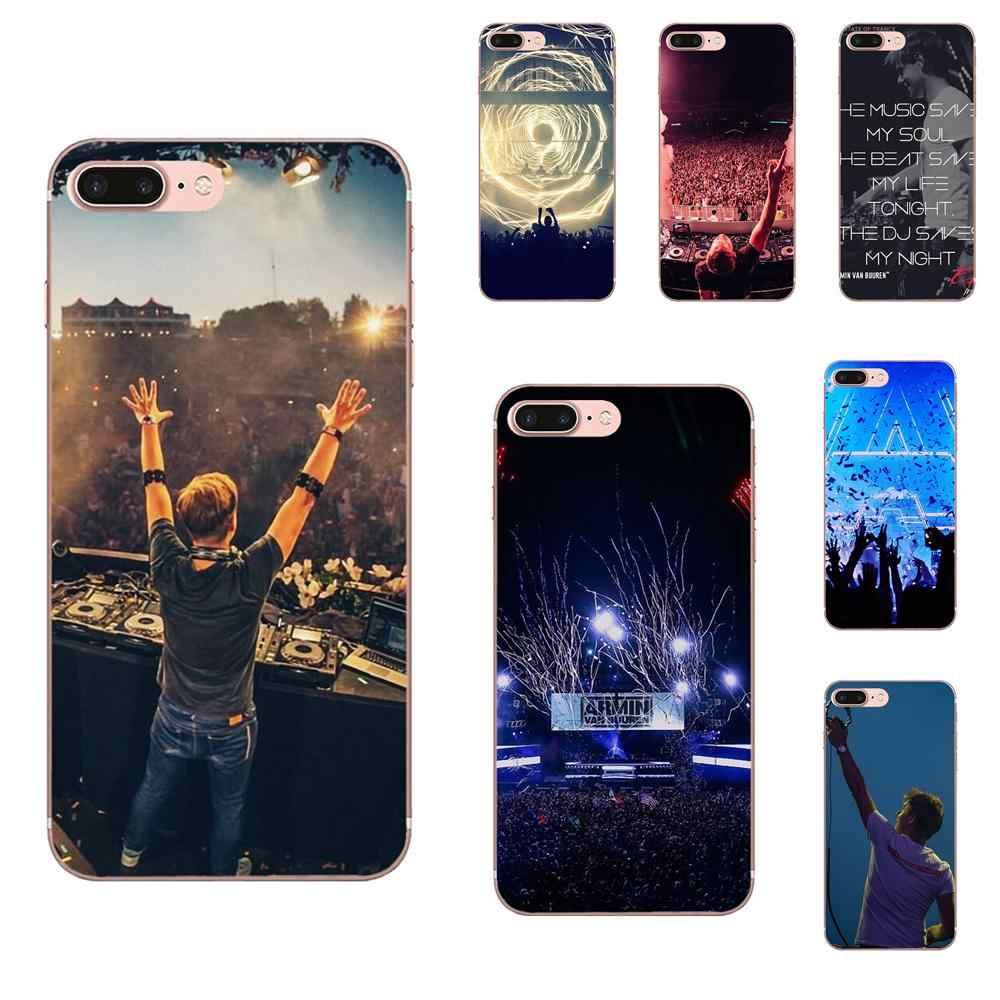 สำหรับ Apple iPhone X XS Max XR 4 4 S 5 5C 5 S SE 6 6 S 7 8 plus TPU Protector โทรศัพท์กรณีออกแบบ Armin Van Buuren Dj