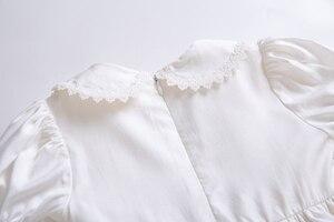 Image 5 - Pettigirl biały haft kołnierzyk dla lalek kwiat dziewczyna komunia jednolity kolor, długi Party warstwy sukienka B455 (długość sukni pod kolanem)