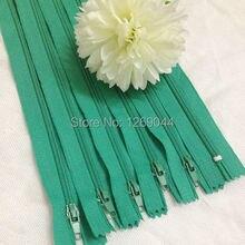 20 unids Nylon bobina cremalleras Tailor herramientas de costura Craft 9 pulgadas de color verde