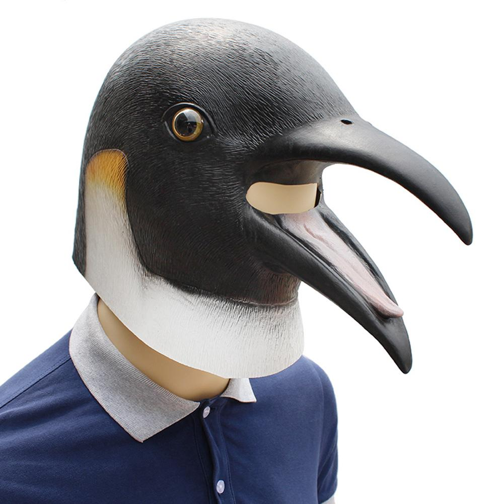 Wholesale High Quality Halloween Party Dance Party Funny COS Mask Animal Penguin Shaped Festival Holiday Latex Headwear Supply
