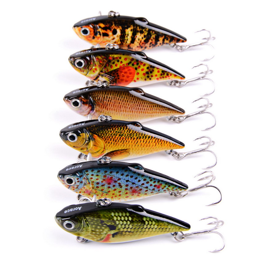 Fishing <font><b>Lure</b></font> Crankbait Fishing Bait Peche Artificial Bait 8.6g 6.4cm Kosadaka Pesca Tackle Wobbler Pike Jerkbaits AOrace 6pcs