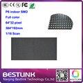 P6 SMD крытый rgb led дисплей модуль 16 сканирования 64*32 пикселей 384*192 мм полноцветный светодиодный вывеска электронные рекламные diy светодиодные комплекты