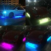 LED Şerit Işıklar Renkler RGB 5050 SMD Altında Araç Tüp Underglow Gövde Altı Sistemi Neon Şasi Işık Kiti + Uzaktan Kumanda YENI