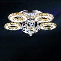 Мода 5 глав кристалл потолочный светильник светодиодный фойе потолочный светильник современная спальня ресторан лампы Заводская распрода