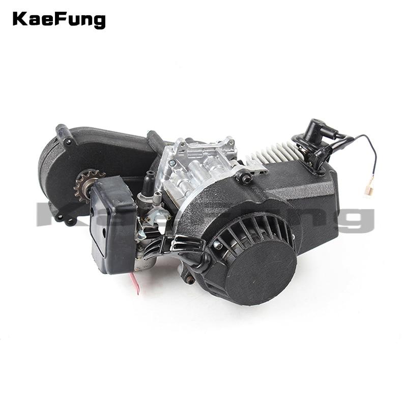Moto 2 temps en plastique 49CC moteur traction E démarrage 13 MM carburateur en plastique pour Mini Moto poche ATV Quad Buggy Dirt Pit Bike