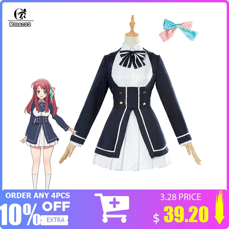 ROLECOS Zombieland Saga Cosplay Costume Sakura Minamoto Cosplay Costume Anime Women Costume Lolita Dress