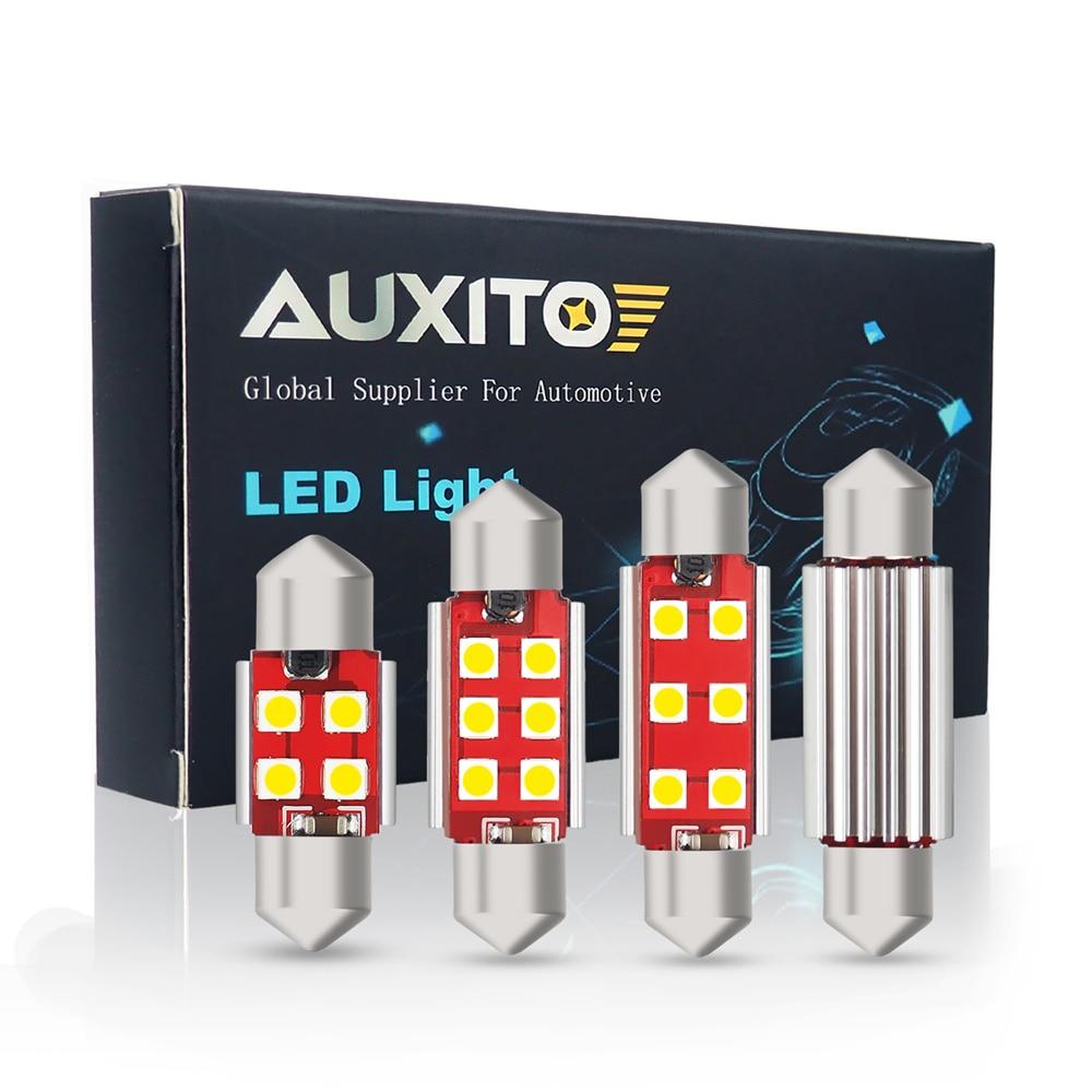 Светодиодный светильник CANBUS 2x C5W, 12 В, гирлянда 31 мм 36 мм 41 мм C10W, светильник для салона автомобиля, лампа для чтения номерного знака 3030 SMD 6000K б...
