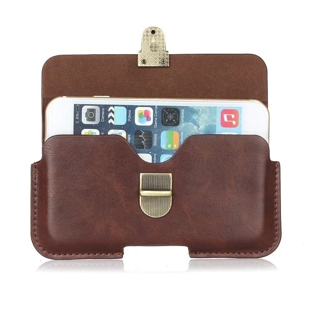 3 Colours Fashion Hook Loop Belt Pouch Holster Bag Horizontal Wallet PU Leather Buckle Case For All Smartphone 5.1 Below