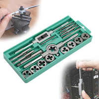 YEODA 20 Pcs Metric Tap And Die M3 M12 Screw Taps Screw Taps CN Connects The Hand Of Carbon Steel Tools For Working Metal