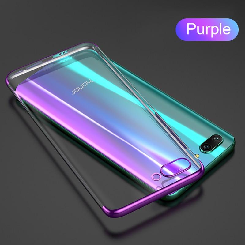 Роскошный ультра-тонкий ТПУ чехол силиконовый мягкий чехол для huawei mate30 P30lite P20lite Nova5T Honor 9X V20 P30 P20 чехол Funda - Цвет: Фиолетовый