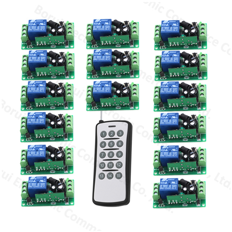 New 12V 1 Channel Wireless Remote Switch Remote Control Switch RF Transmitter Receiver 315MHz/433Mhz