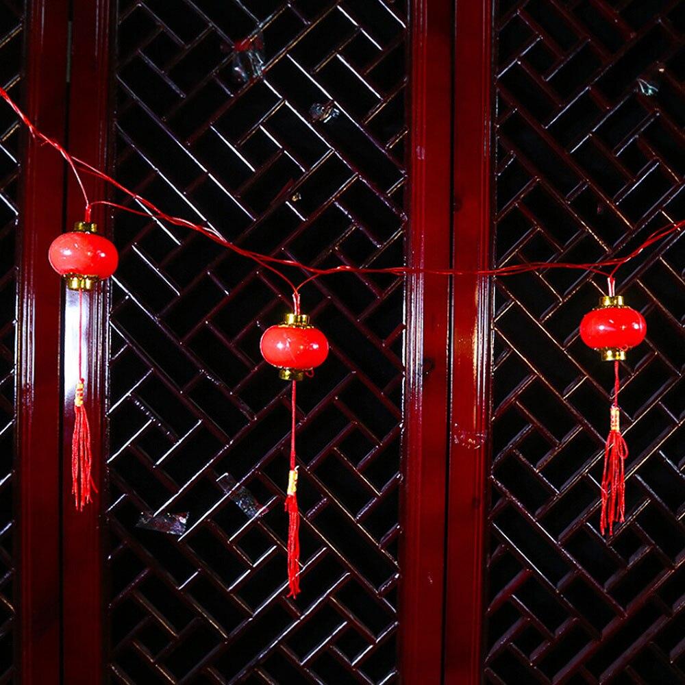 4m 20pcs Led Red Lantern String Lights For New Year Spring