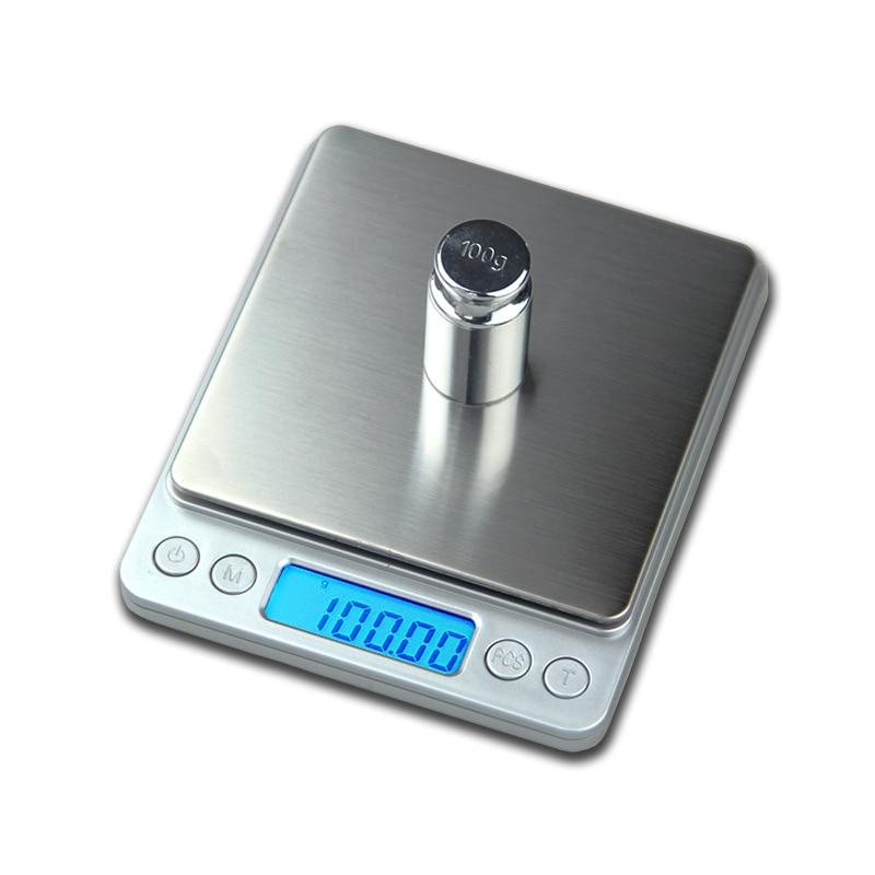 500 g x 0,01 g hordozható mini elektronikus digitális mérlegek - Mérőműszerek - Fénykép 2