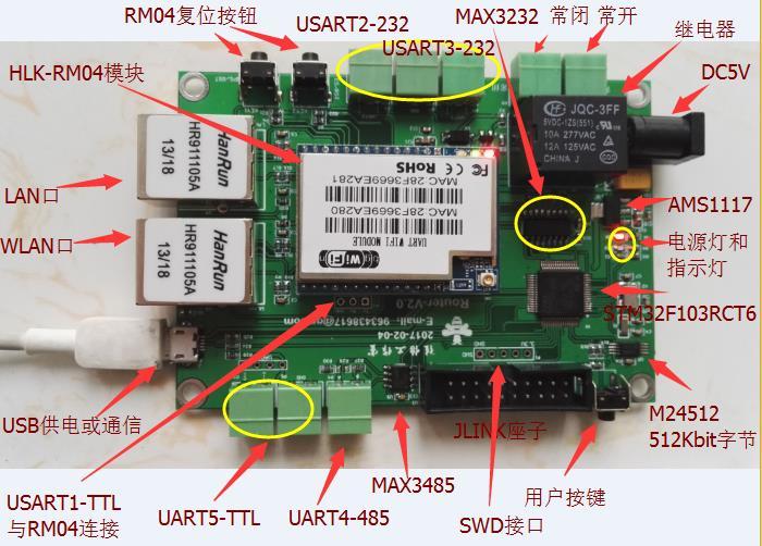 Serial Port, WiFi, STM32 Development Board, WIFI Module, Wireless Router, RM04 Module