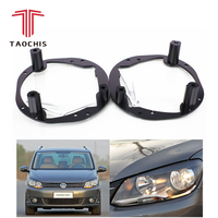 Taochis Car Styling frame adapter module DIY Bracket Holder for VW Volkswagen Touran MPV 2011 Type Hella 3 Q5 Projector lens