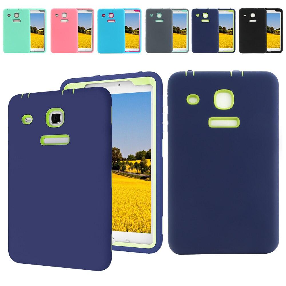 Для samsung Galaxy Tab E 8 дюймов ЖЕСТКИЙ РЕЗИНА противоударный чехол дети Безопасный Kickstand 360 градусов Полная защита T375 t377A ...