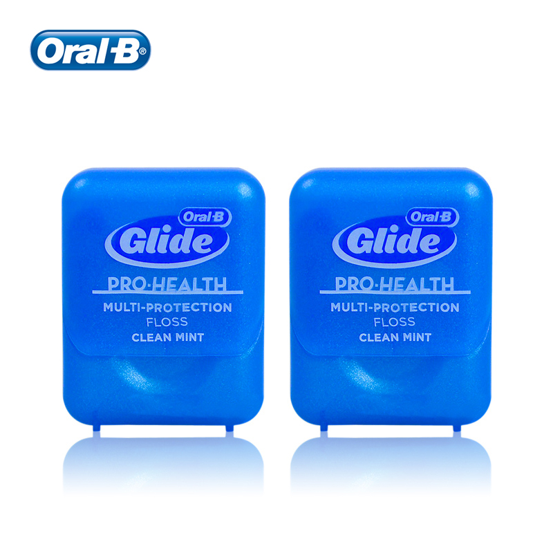 Oral B Glide Pro Health Dental Floss Multi-Protection Deep Clean Flat Thread Smooth Flosser for Oral Hygiene 40m 2/6pcs(China)