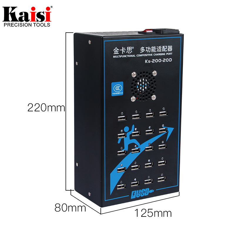 Universal 20 Port Smart USB Charger Combination Tool for Fast Charging 2A Computer, Mobile Phone,Battery Electronics