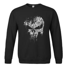 Sweatshirt spring winter 2017 hoody men's sportswear The Punisher Skull print fashion hoodies brand-clothing harajuku tracksuits
