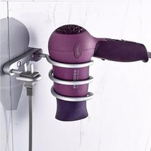 Bathroom shelf dryer rack with plug holder hair dryer rack Households Rack Hair Blow Dryer Holder Aluminum Shelf