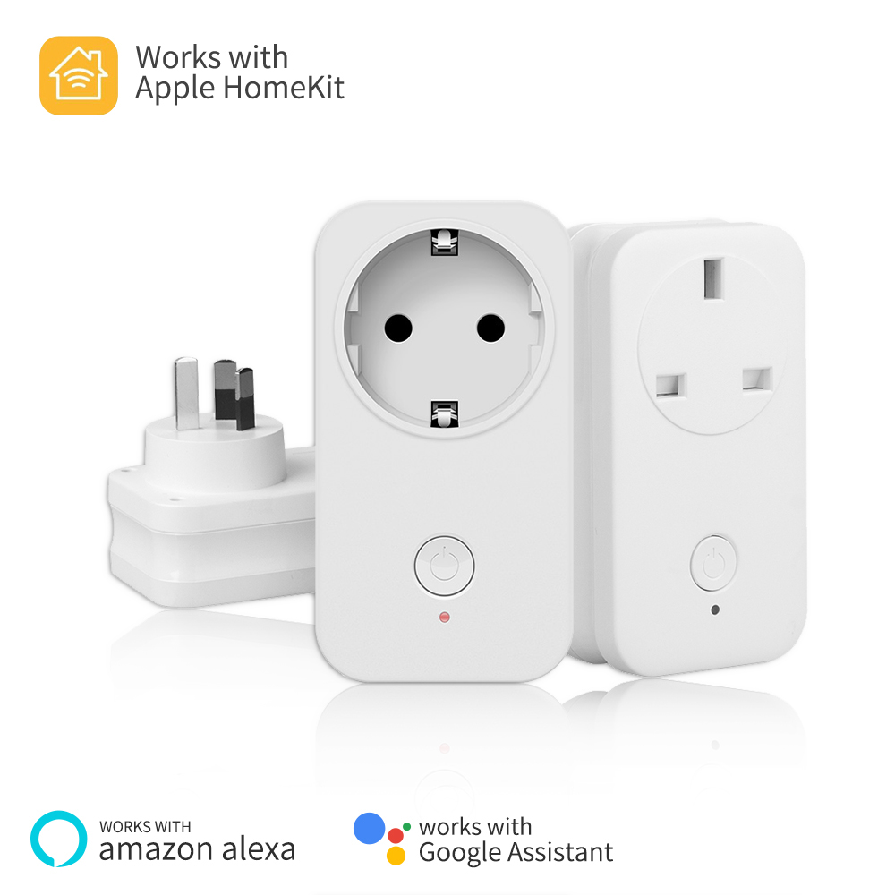 Timethinker 3Pcs Smart Home WiFi Outlet US EU UK Socket Plug or Apple Homekit Alexa Google