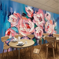 3d Room Wallpaper Abstract Peony Flower Oil Wall Painting Flower Wall Decor Bedroom Wall Designs Living