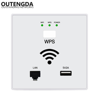 300Mbps in Wall WiFi Access Point Wireless Socket AP for Hotel Wi Fi Project mini WIFI Repeater router RJ45 USB WPS Encryption