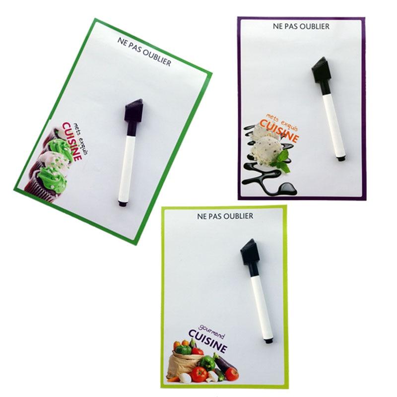 masakan dicetak Kering Menghapus Fleksibel Papan Tulis Magnetik / papan Pesan / Memo Pad / Kotak Dialog Magnet