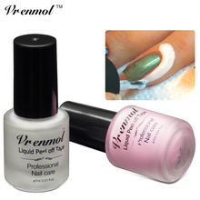 Vrenmol 1 unids Pelar el Líquido Nail Art Dedo Cinta Piel Protegida Pegamento Blanco Rosa Empalizada Fácil Para Limpiar las Uñas polaco