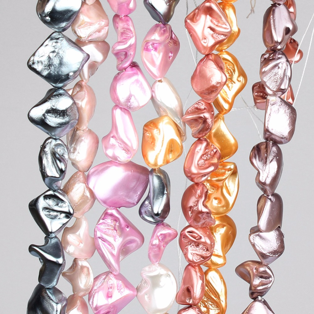 10-20mm Natürliche Unregelmäßigen Mehrfarbige Conch Shell Perlen Für Schmuck Machen Lose Spacer Bead Diy Halskette Armband Schmuck 15'