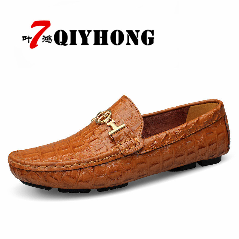 2018 High Quality Genuine Leather Men Flats Shoes,Casual Driving Flats For Man,Plus Size Spring Fashion Moccasins Shoes For Men genuine leather men casual shoes plus size comfortable flats shoes fashion walking men shoes