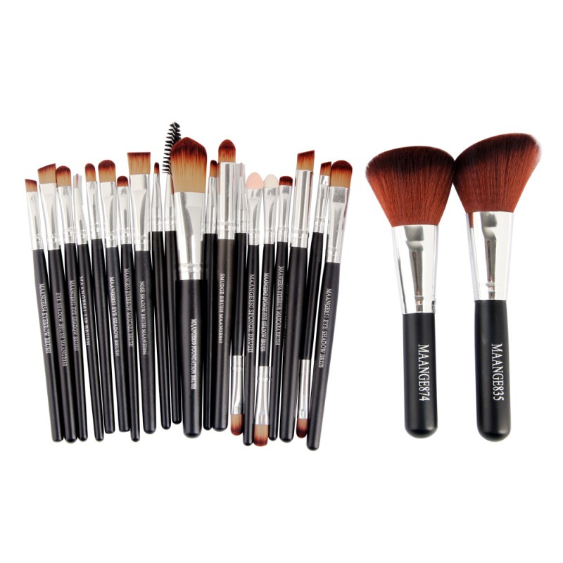 Professional Makeup Cosmetic Brushes Blusher Eyeshadow Powder Foundation Eyebrow Lip Brush Set 22pcs professional 22pcs cosmetic makeup brushes set blusher eyeshadow powder foundation eyebrow lip make up brush kit