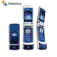 цена на Original Motorola Krzr K1 Flip Unlocked GSM mobile phone free shipping+free Gifts