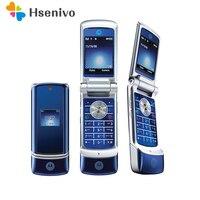 100% Original Motorola Krzr K1 Flip Unlocked GSM Bluetooth MP3 FM Radio Mobile phone Refurbished Free shipping