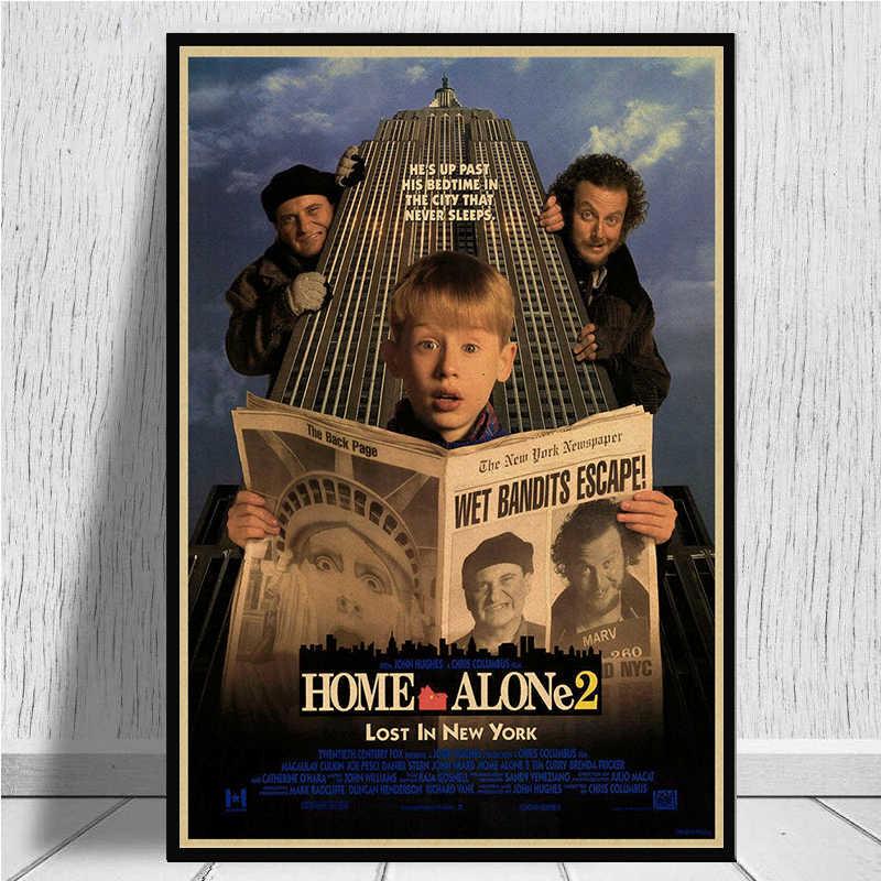 Дома один фильм плакат из крафт-бумаги плакат декоративной живописи современная мода личности креативный Ретро Искусство стикер стены