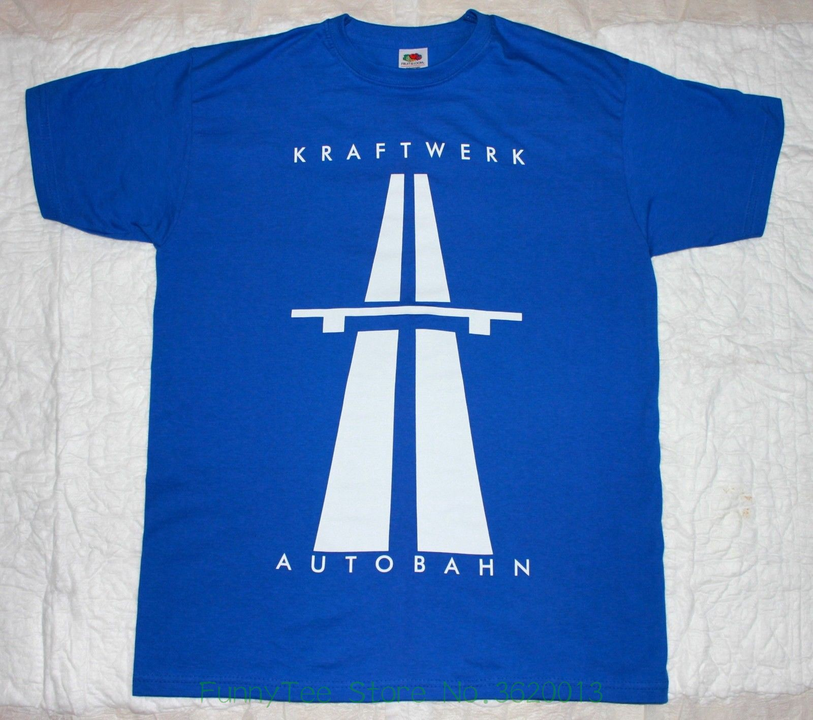 Kraftwerk Autobahn&#039 ; 74 Krautrock Electronic Synthrock Royal Blue T-shirt
