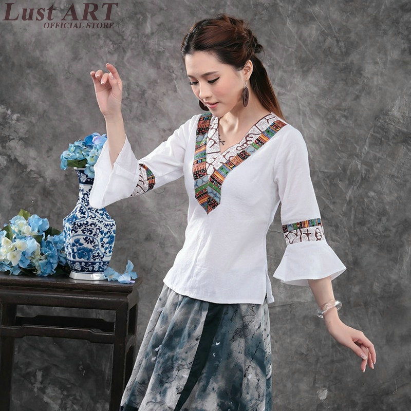 06c532f0979 Detail Feedback Questions about Chinese clothing store new design women top  shirt chinese garment traditional wear ladies traditional chinese clothes  AA139 ...