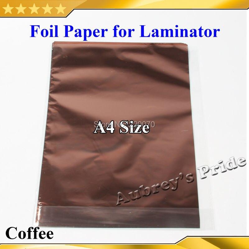 Wholesale 100Pcs Coffee Color 20x29Cm A4 Hot Stamping Foil Paper ...