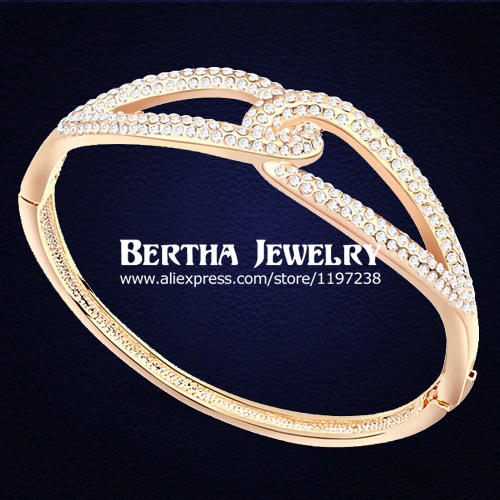 2016 New Luxury Infinity Bracelet Pulseras Gold Plated For Women With Swarovski Elements Crystal Bangles Jewelry Top Quality