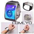 COMLYA Djustable Metallic Replacement Wristband Fitness Bracelet Watch Strap For Samsung Gear S SM-R750 Steel Wrist Band R750
