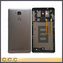 Original battery housing for Huawei mate 7 back case door cover with fingerprint flex cable