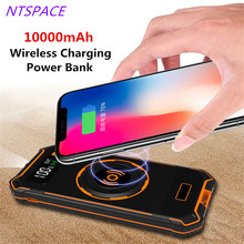 10000mAh Wireless Charging Power Bank For iPhone X 8 Plus Phone Charger Samsung Galaxy S9Plus Huawei P20