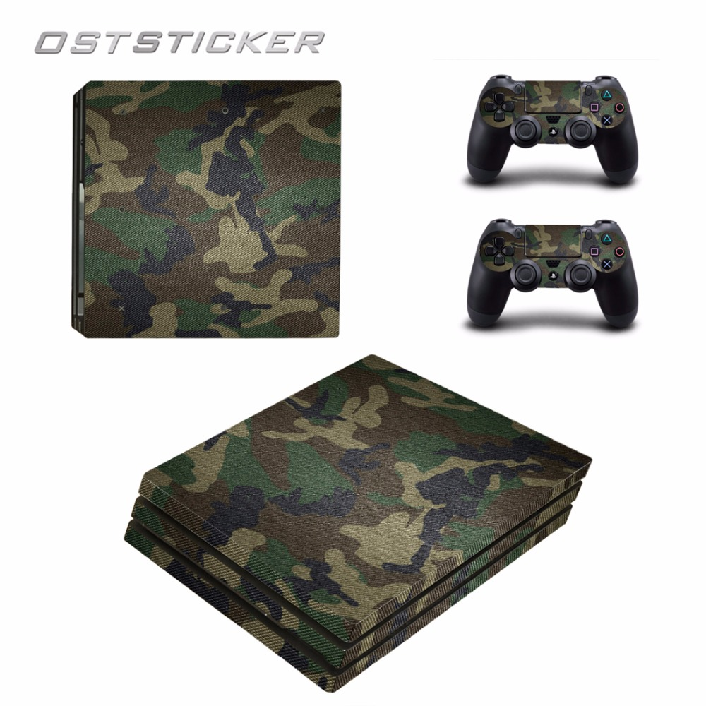 30% off OSTSTICKER New arrival Vinyl skin cover for Sony PlayStation 4 Pro PS4 Games console decal cover and controllers skins
