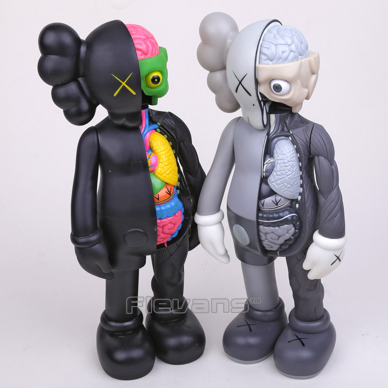 OriginalFake Kaws Dissected Companion PVC Action Figure Collectible Model Toy 14 36cm Boxed naruto kakashi hatake action figure sharingan ver kakashi doll pvc action figure collectible model toy 30cm kt3510