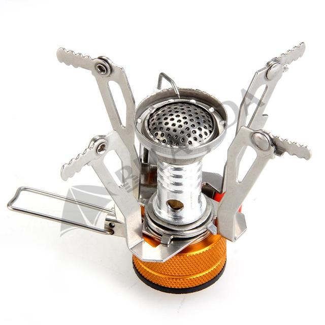 TOMOUNT Mini Backpacking Canister Stove Burners Camp Camping Outdoor Cooking Foldable Hiking Supply 9 x 9 x 8 cm Metal Outdoor 1