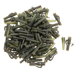 50Pcs/Sets Fishing Terminal Tackle Safety Lead Clips with Pins Tail Rubber Tubes Carp Fishing Tackle Tools